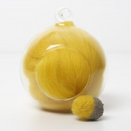 Merino yellow 40 wool top 10g