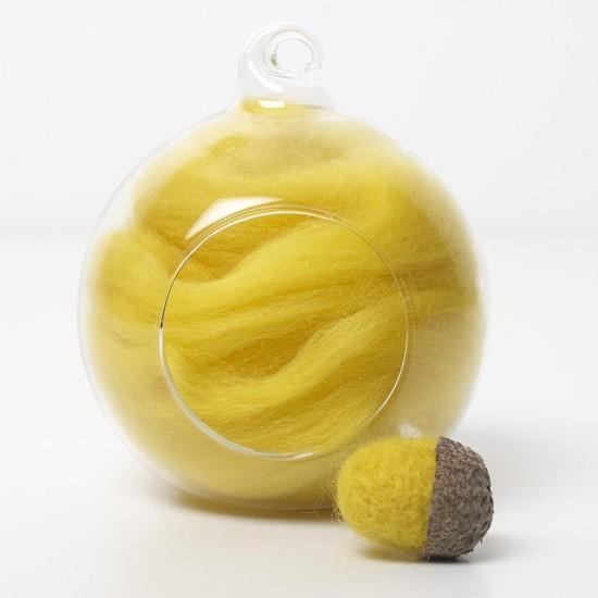 Merino yellow 43 wool top 10g
