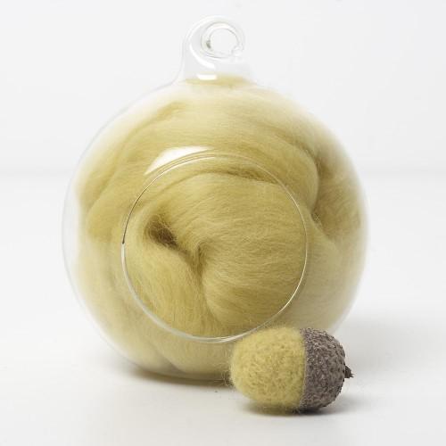Merino yellow 44 wool top 10g