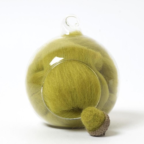 Merino green 45 wool top 10g