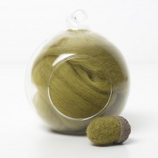 Merino green 46 wool top 10g