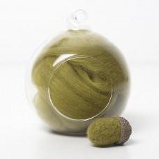 Superfine Merino Green SF46 Wool Top 10g