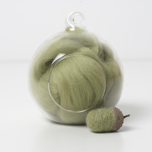 Merino green 47 wool top 10g