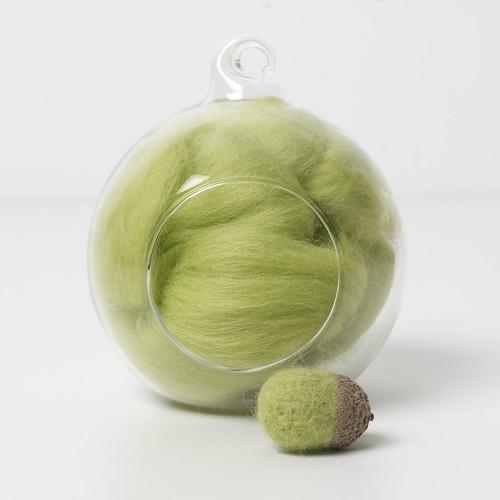 Merino green 48 wool top 10g