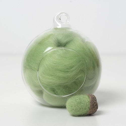 Merino green 49 wool top 10g