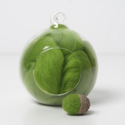 Merino green 50 wool top 10g
