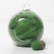 Merino green 52 wool top 10g