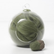 Merino green 53 wool top 10g