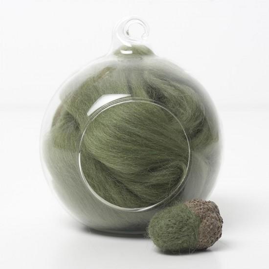 Merino green 53 wool top 10g