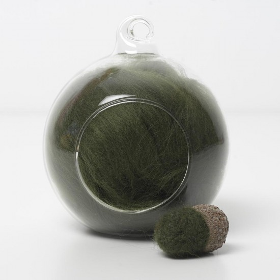 Merino green 55 wool top 10g
