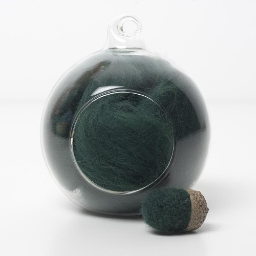 Merino green 56 wool top 10g