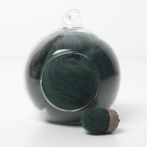 Merino green 56 wool top 10g