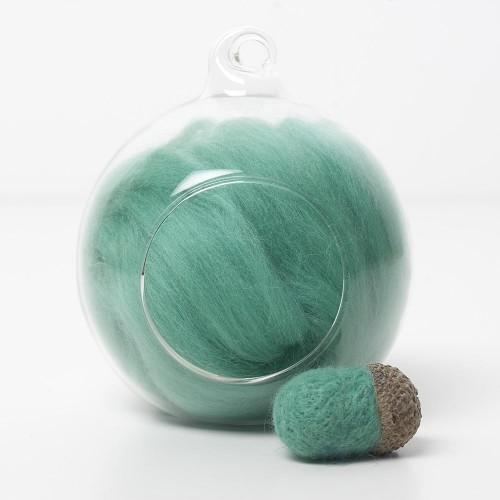Merino green 59 wool top 10g
