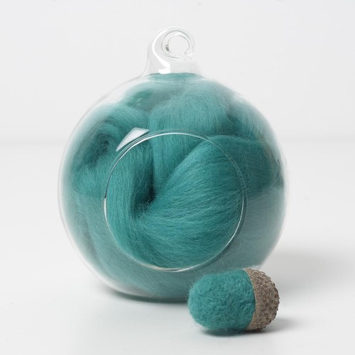 Merino green 60 wool top 10g