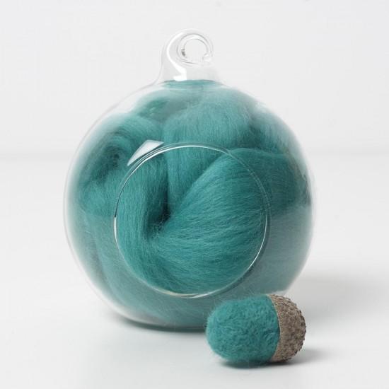 Merino green 60 wool top 10g