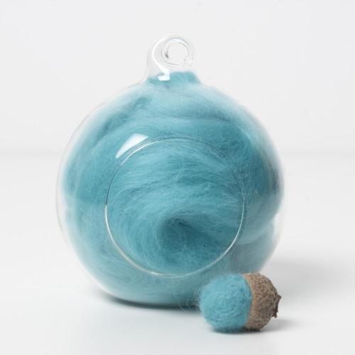Merino green 62 wool top 10g