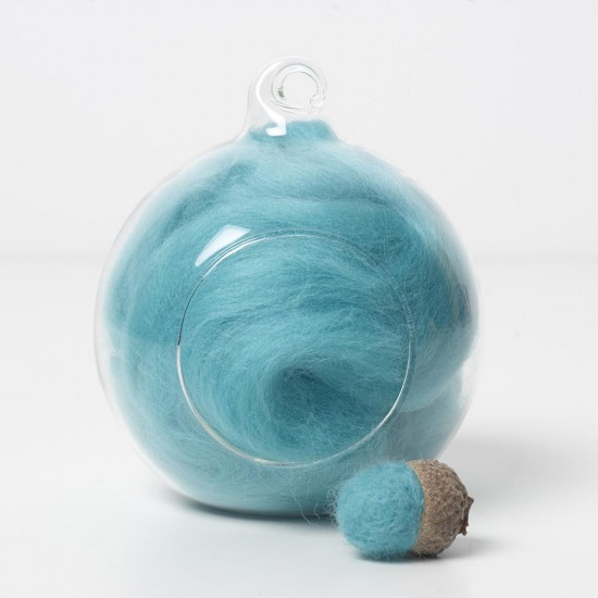Superfine Merino Aqua SF62 Wool Top 10g