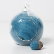 Merino blue 63 wool top 10g