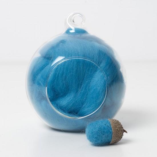 Merino blue 64 wool top 10g