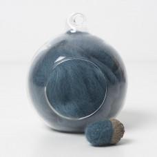 Merino blue 65 wool top 10g