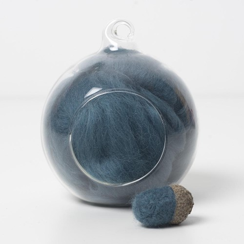Merino blue 65 wool top 10g
