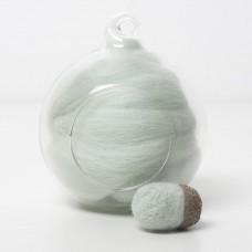 Merino green 66 wool top 10g