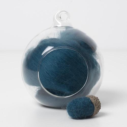 Merino green 67 wool top 10g
