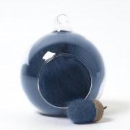 Merino blue 68A wool top 10g