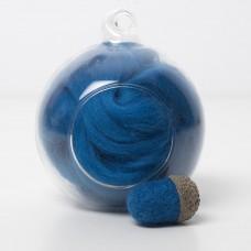 Merino blue 68 wool top 10g