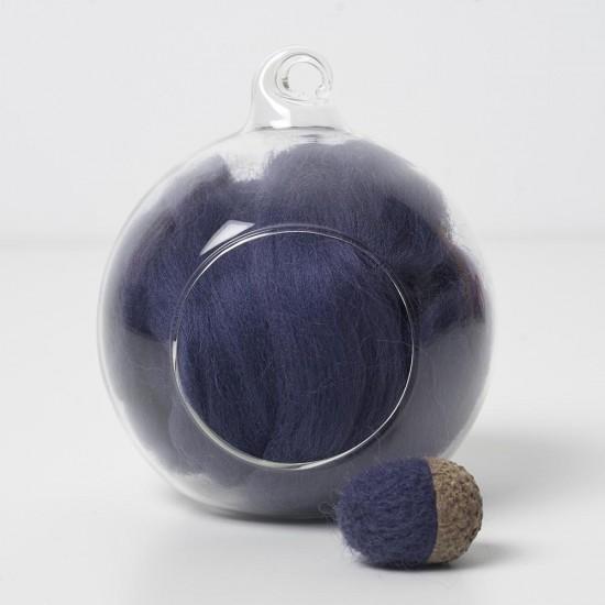 Merino blue 69A wool top 10g