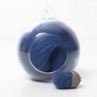 Merino blue 69 wool top 10g