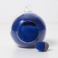 Merino blue 70 wool top 10g