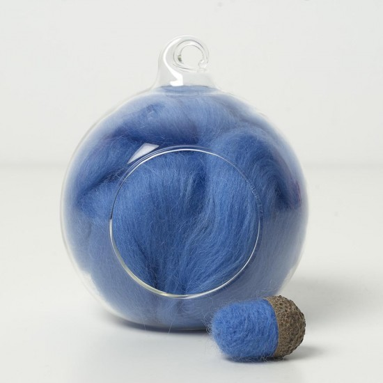 Merino blue 71wool top 10g