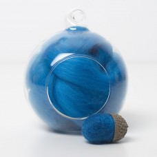 Merino blue 72 wool top 10g