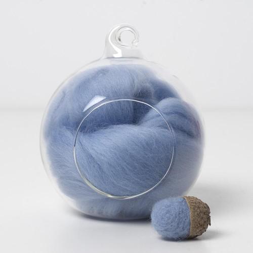Merino blue 74 wool top 10g