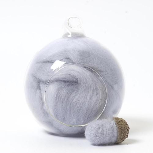Merino Neutral 75 wool top 10g