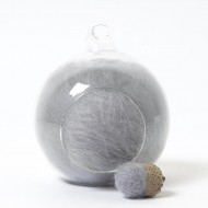 Merino neutral grey 76 wool top 10g