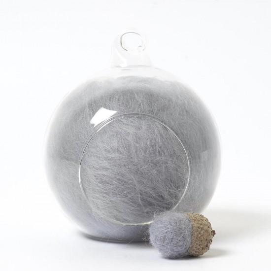 Superfine Merino Grey SF76 Wool Top 10g