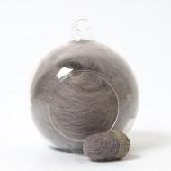 Merino neutral grey 77 wool top 10g