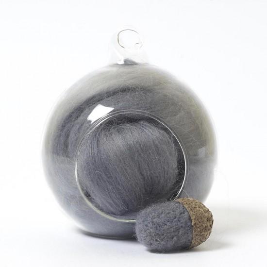 Superfine Merino Grey SF78 Wool Top 10g