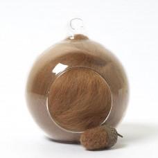 Merino neutral brown 84 wool top 10g