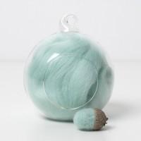 Merino aqua 58 wool top 10g