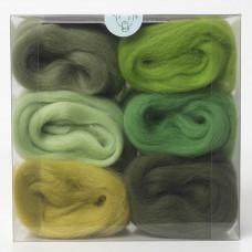 Merino Wool Shade Pack-Greens