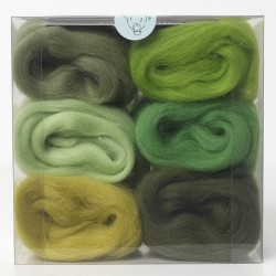 Merino Wool Shade Pack-Greens
