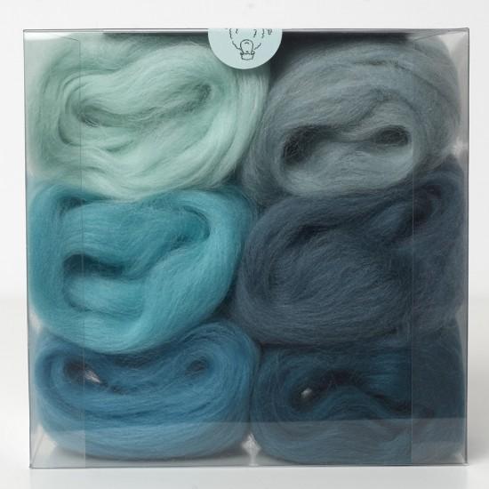 Merino Wool Shade Pack-Marine Blues