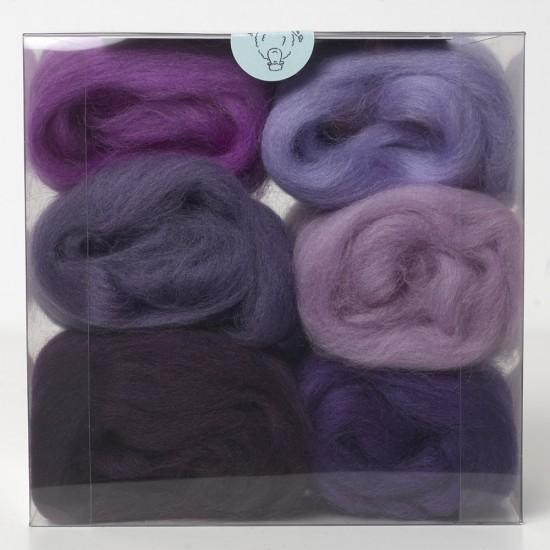 Merino Wool Shade Pack-Purples