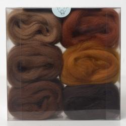 Merino Wool Shade Pack-Browns