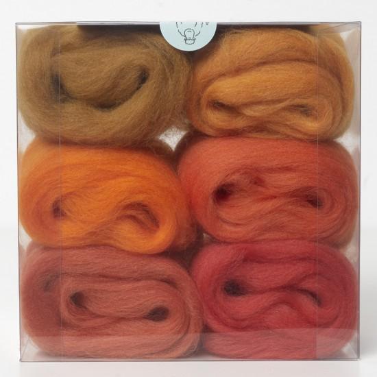Merino Wool Shade Pack-Oranges