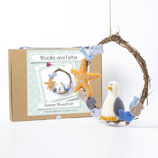 Summer Wreath needle felting kit