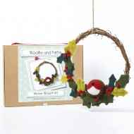 Winter Wreath needle felting kit